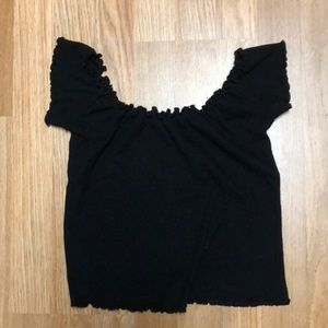 Brandy Melville off-the-shoulder black top